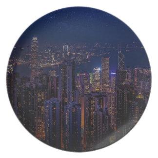 Hong Kong Skyline Plate