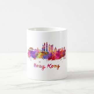 Hong Kong V2 skyline in watercolor Coffee Mug