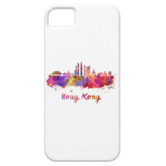 Hong Kong V2 skyline in watercolor iPhone 5 Covers