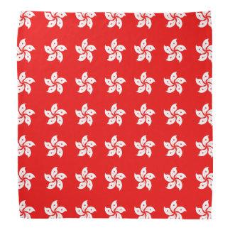 Hong Kong White Orchid Symbol on Red Bandana