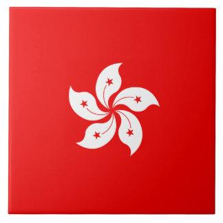 Hong Kong White Orchid Symbol Tile