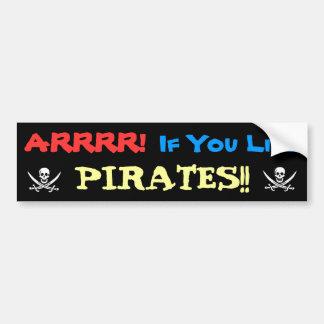 Honk for Pirates! Bumper Sticker
