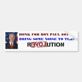 HONK FOR RON PAUL 2012 BUMPER STICKERS