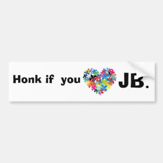 Honk if  you <3 jb bumper sticker