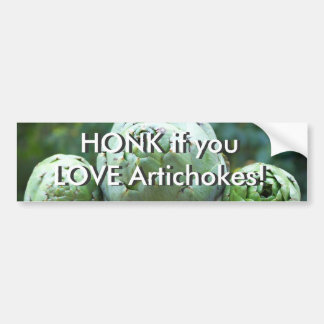 HONK if you love artichokes - Bumper Sticker