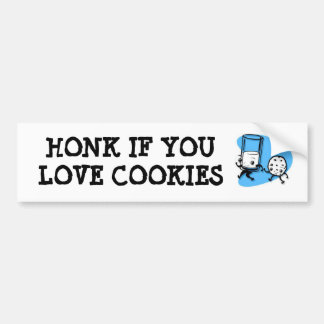 HONK IF YOU LOVE COOKIES BUMPER STICKER