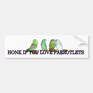 Honk if you love parrotlets bumper sticker