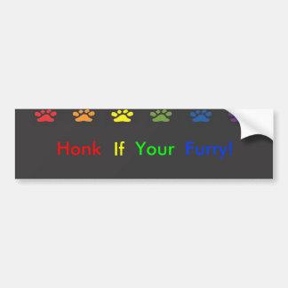 Honk if your Furry Bumpersticker Bumper Sticker