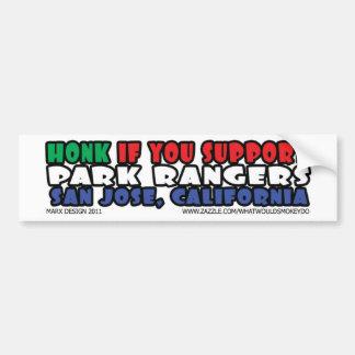 honk support park rangers bumper sticker