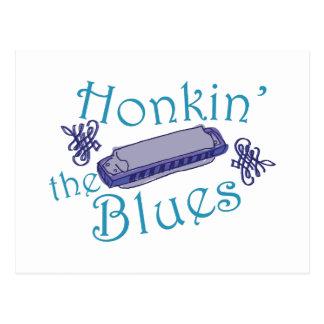 Honkin The Blues Postcard