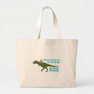 Honky Tonk Rex Large Tote Bag