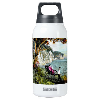 Honmoku Cliffs of Mississippi Bay Old Japan Geisha Insulated Water Bottle