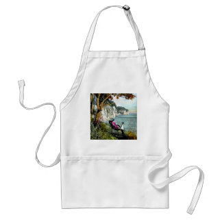 Honmoku Cliffs of Mississippi Bay Old Japan Geisha Standard Apron