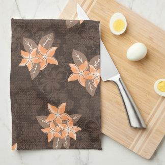Honolua Plumeria Hawaiian Tropical Print Kitchen Towel