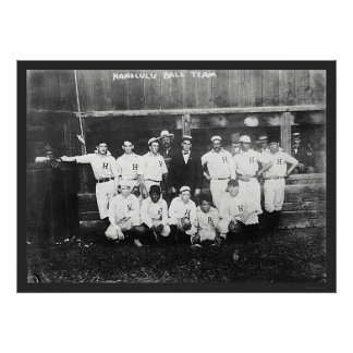 Honolulu Baseball Team 1910 Poster
