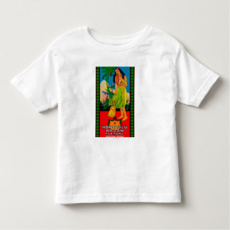 Honolulu Broom Handle LabelHonolulu, HI Toddler T-shirt