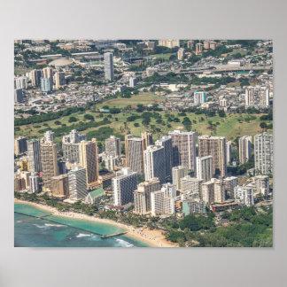 Honolulu City Skyline Poster
