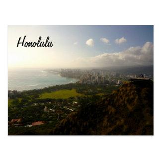 Honolulu from Le ahi Postcard