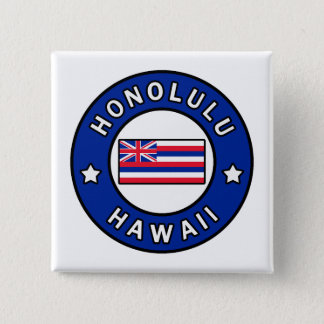 Honolulu Hawaii 2 Inch Square Button