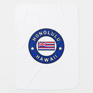 Honolulu Hawaii Baby Blanket