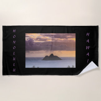 Honolulu Hawaii Beach Towel