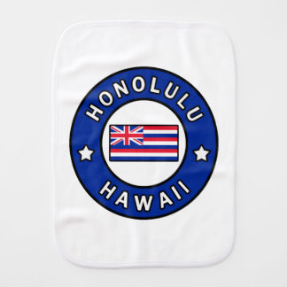 Honolulu Hawaii Burp Cloth