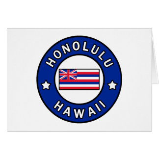 Honolulu Hawaii Card