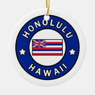 Honolulu Hawaii Ceramic Ornament