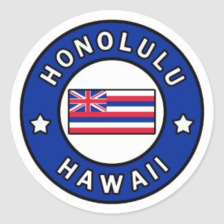 Honolulu Hawaii Classic Round Sticker