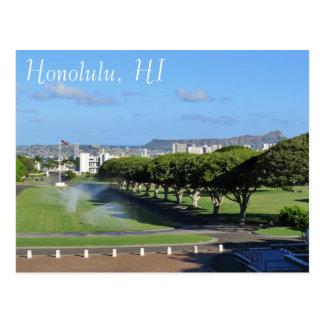 Honolulu Hawaii Diamond Head Punchbowl Crater Postcard