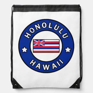 Honolulu Hawaii Drawstring Bag