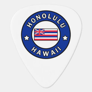 Honolulu Hawaii Guitar Pick
