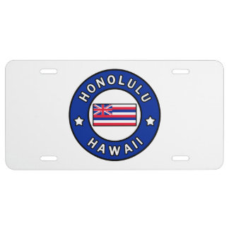 Honolulu Hawaii License Plate