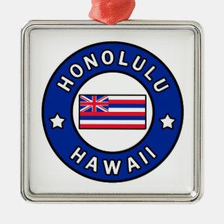Honolulu Hawaii Metal Ornament
