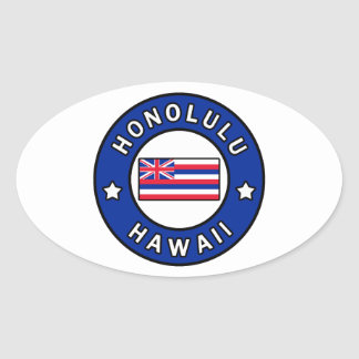 Honolulu Hawaii Oval Sticker
