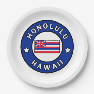 Honolulu Hawaii Paper Plate