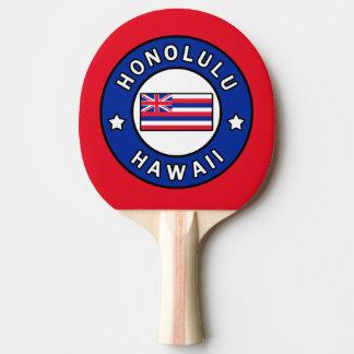 Honolulu Hawaii Ping Pong Paddle