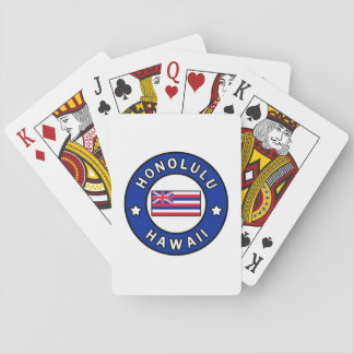 Honolulu Hawaii Playing Cards