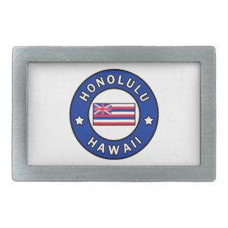 Honolulu Hawaii Rectangular Belt Buckle