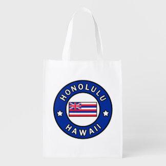 Honolulu Hawaii Reusable Grocery Bag