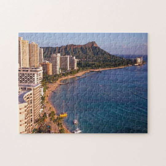 Honolulu Hawaii Seascape. Jigsaw Puzzle