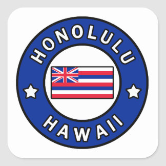 Honolulu Hawaii Square Sticker