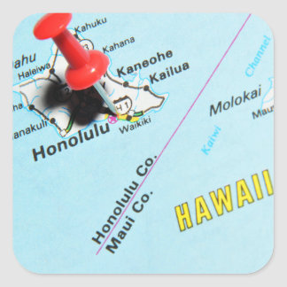 Honolulu, Hawaii Square Sticker