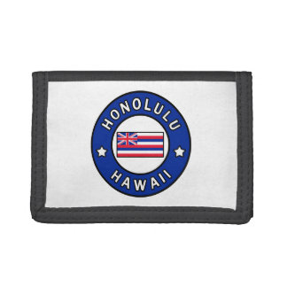 Honolulu Hawaii Trifold Wallets