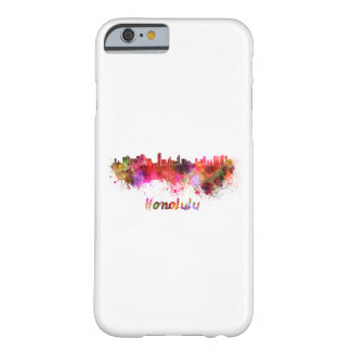 Honolulu skyline in watercolor barely there iPhone 6 case