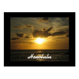 Honolulu Sunset Postcard
