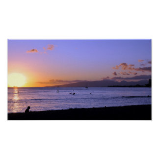 Honolulu Twilight Print