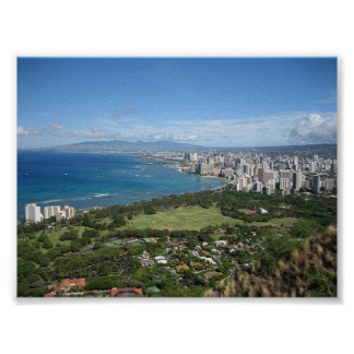 Honolulu View Poster