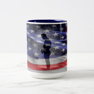 Honor all (fallen) Heroes or the USAS Two-Tone Coffee Mug