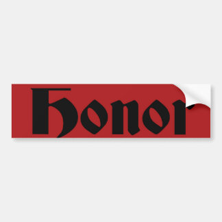 honor bumper sticker